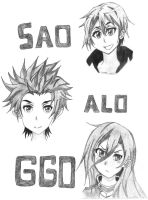 Kirito Avatars (WHO IS YOUR FAVORITE?) by goldvicblest