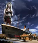 Giantess Daryl Hannah Visits Titanic Museum by GiantessStudios101
