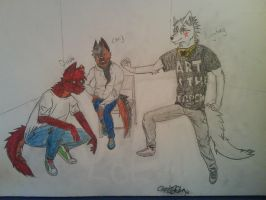 3 Person Drawing by ChrisGShep