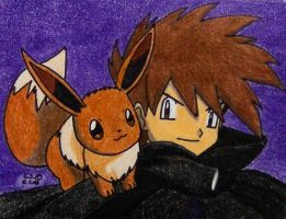 We will win - Gary and Eevee by Ash-Misty-Pikachu