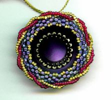 Sunspot Button Pendant by beadg1rl