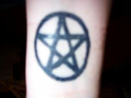 Penticle tattoo left wrist by ChristopherCarrion