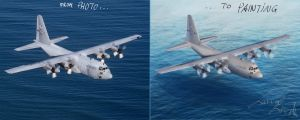 Lockheed C130 Hercules by the-Loony