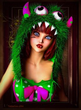 Monsterina by Tottallou by DAZ-3D