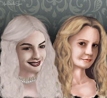 The white queen and Alice by Zifly