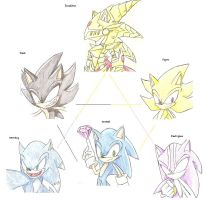 sonic forms by RoXthehedgehog