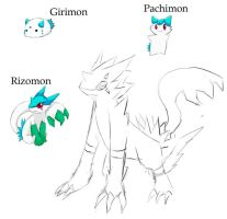 WIP Digimon ref thing by miauco
