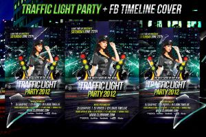 Traffic Light Flyer + Facebook Timeline Cover by LouisTwelve-Design
