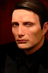 Mads Mikkelsen painting - Le Chiffre by Aquila--Audax