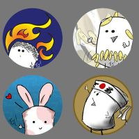 Mallow buttons by Twitchy-Kitty-Studio