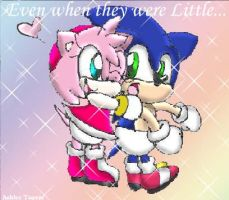 Baby Sonic And Amy by PinkAngelChao