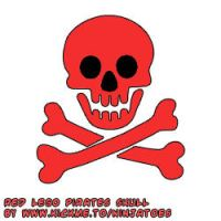 red LEGO Pirates skull by ninjatoespapercraft