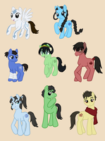 Avatar/Legend of Korra Ponies by CardcaptorKatara