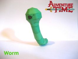 Adventure Time Worm Papercraft by poethetortoise