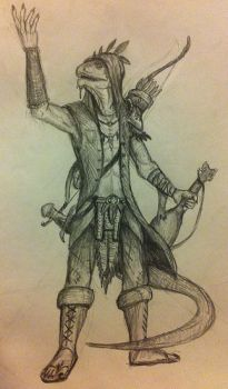 Argonian character sketch by ShotLiver