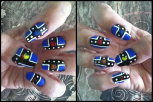 Pacman Manicure take 2 by MikariStar