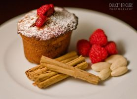 Raspberry Almond Friand by DulcetEpicure