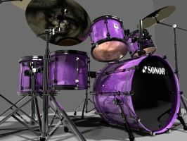 3d Drumset by AEvilMike