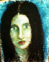 Girl with blue eyes by pagone