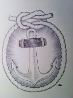 Anchor in Knotted Frame by FalloutLuver13