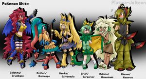 My pkmn White Team Gijinka by Winged-Leafeon