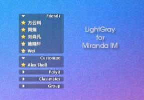 LightGray for Miranda IM by longcdn