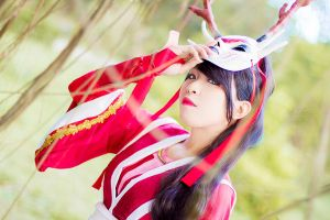 League of Legends: Bloodmoon Akali by JoviClaire