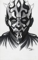 Star Wars - Darth Maul Original Sketch by DenaeFrazierStudios