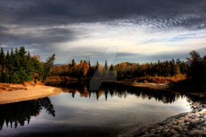 HDR Autumn River 2 by Nebey