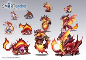 Prodigy Fire Monsters by Dragolisco