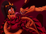 Jasmine and Snake Jafar for purple-lights-1993 by Ragadabah