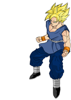 Super Saiyan Goku by darkhawk5