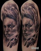 mystic woman tattoo by mil5
