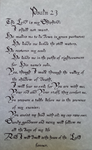 The 23rd Psalm in Calligraphy by squirrelismyfriend