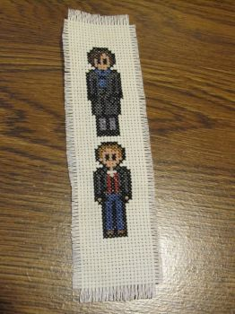 Sherlock and Watson Bookmark by DawnMLC