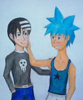 Black Star and Death the Kid by CJC-2489