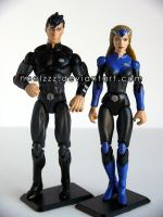 Voltron Force - Keith and Allura custom figures by noelzzz