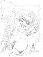 Harley Quinn pencils by aethibert