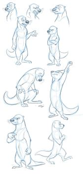 More Ottermelon Sketches by Temiree