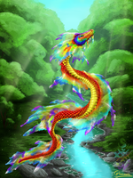 Rainbow Serpent by Glaiceana