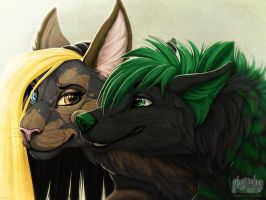 Iron Artist 012 - Kristin and Kovah by Plaguedog