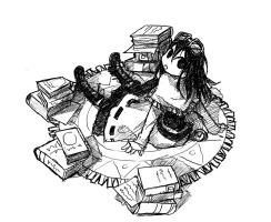 Victorian Girl love books by Jump-Button