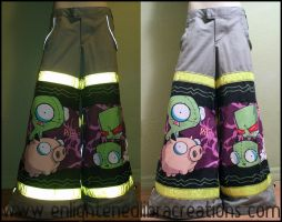 Invader ZIM Raver Phat Pants 1 by RedheadThePirate