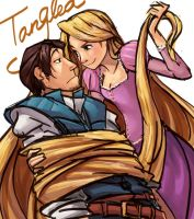 Flynn and Repunzel by Scyao
