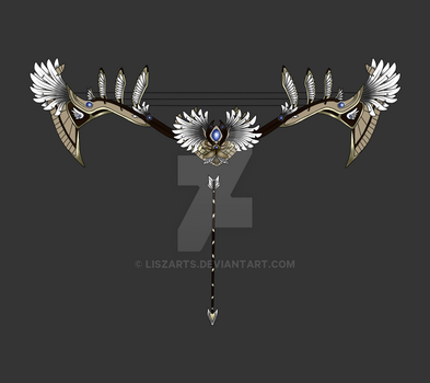 Smite Concept Art- Neith's Heavenly Bow by LiszArts