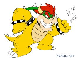 Mario Animations: Bowser WIP by Jazzy-Book
