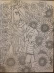 Roses and Sunflowers by 1sthi1357
