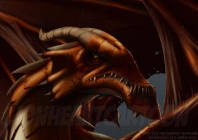 Red Dragon - Detail by Lionheartcartoon