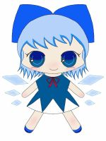 chibi!Dolly Cirno by TheRedYarn