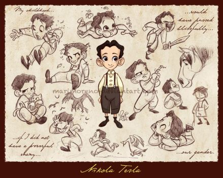 Little Nikola Tesla by marimoreno